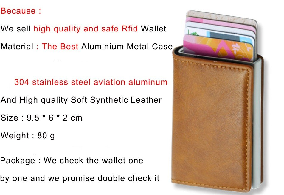 Mens Small Slim Leather Wallets Rfid Card Holder 12